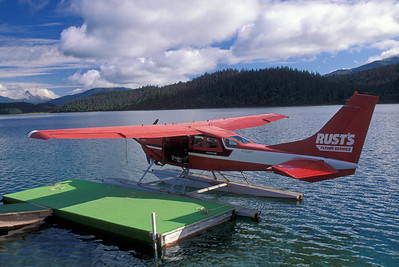 Rust's Flying Service float plane on lake
