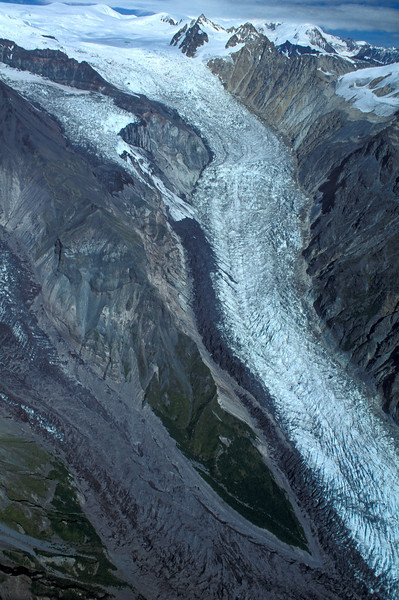 two dirty glaciers