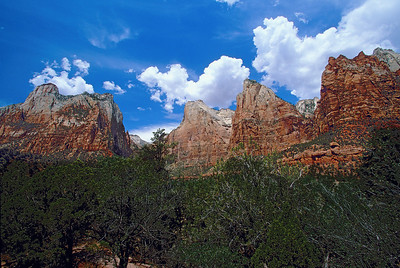 Zion Canyon three mountains