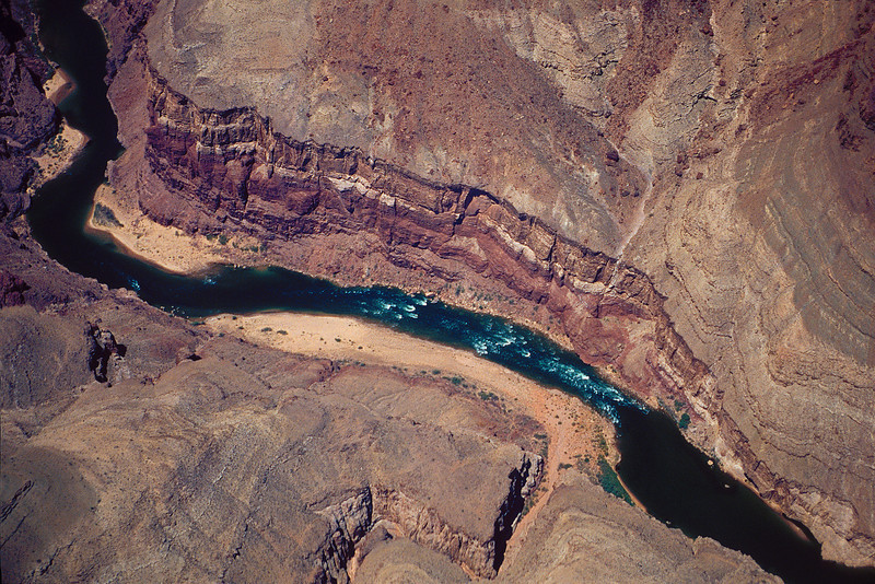 Colorado River in Grand Canyon from air