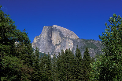 closeup of Half Dome