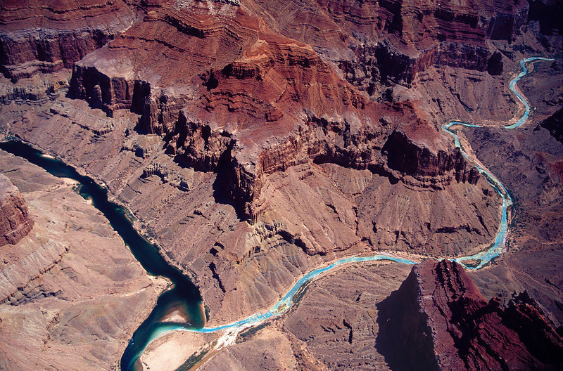 rivers in Grand Canyon from air