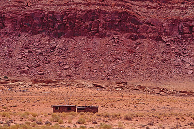 decaying houses in Painted Desert