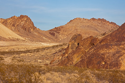 Yucca Mountains behind Rhyolite