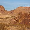Yucca Mountains behind Rhyolite
