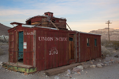 Union Pacific caboose Rhyolite