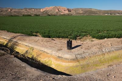 colorful soil layers Rio Grande farm