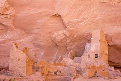 swastika motif above Anasazi dwelling