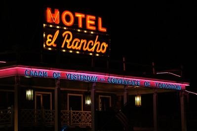 Motel El Rancho sign Gallup NM