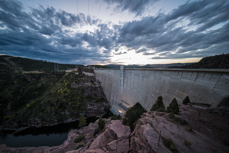 Flaming Gorge Dam dusk
