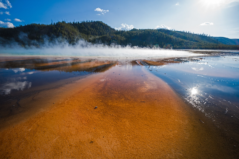 other edge of Grand Prismatic Spring Yellowstone