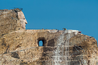 Crazy Horse Monument under construction
