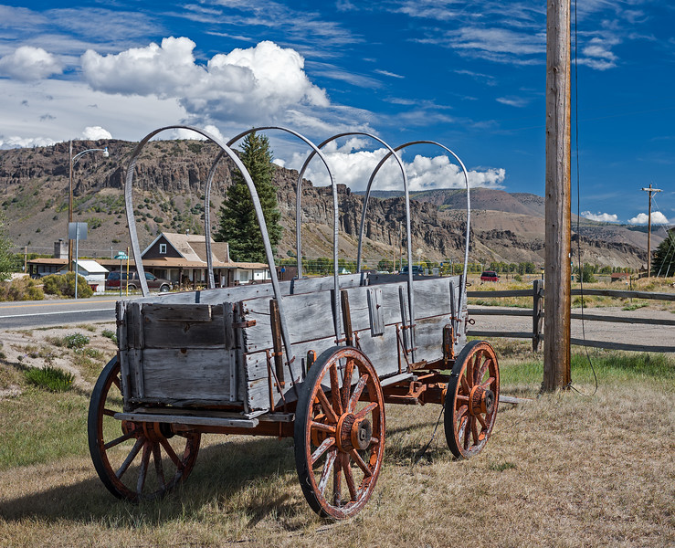 remains of covered wagon Hot Sulphur Springs CO