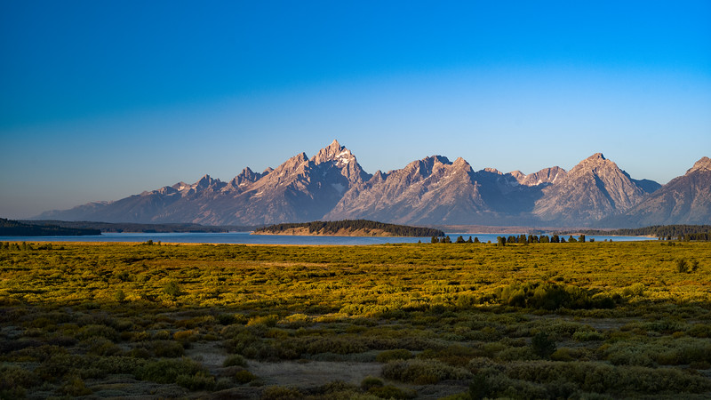 morning light on the southern Grand Tetons