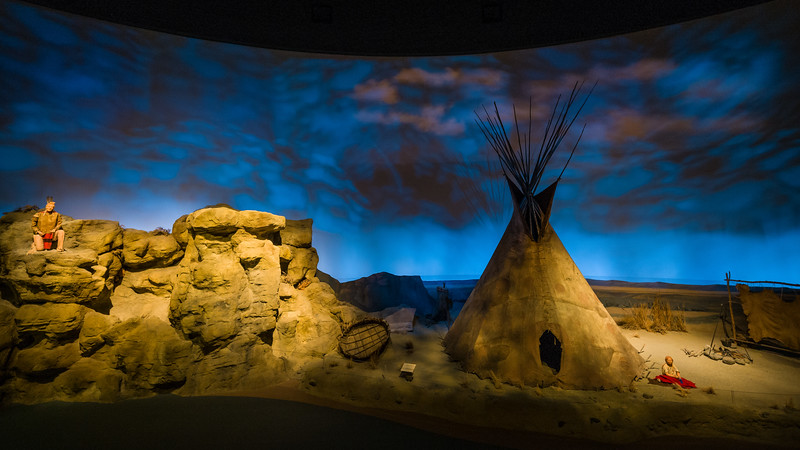 display Plains Indian Museum Buffalo Bill Center of the West Cody WY
