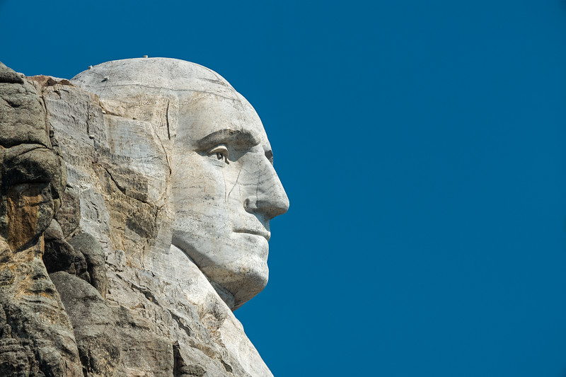 profile of George WashingtonnMt Rushmore