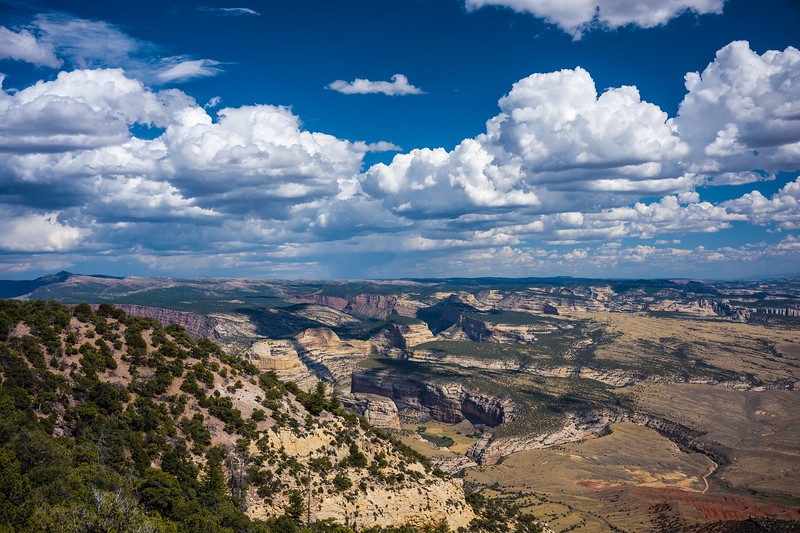 canyons and clouds in Dinosaur Monument Colorado