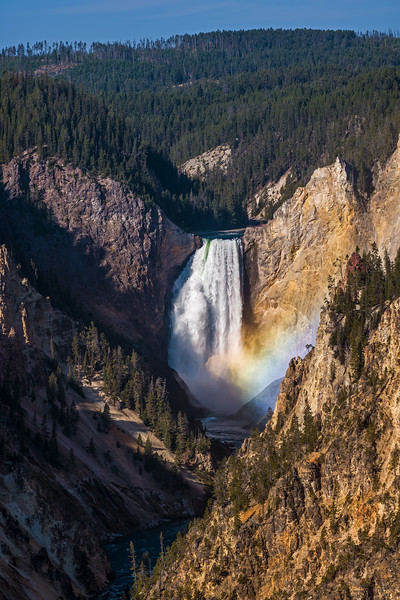 Yellowstone Lower Falls colored mist 3