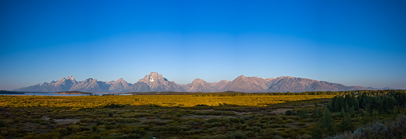 Grant Teton morning panorama