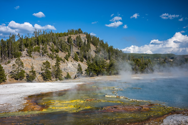 edge of Grand Prismatic Spring Yellowstone