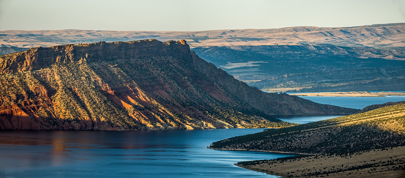 submerged canyon wall Flaming Gorge
