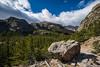 rock along trail Glacier Gorge