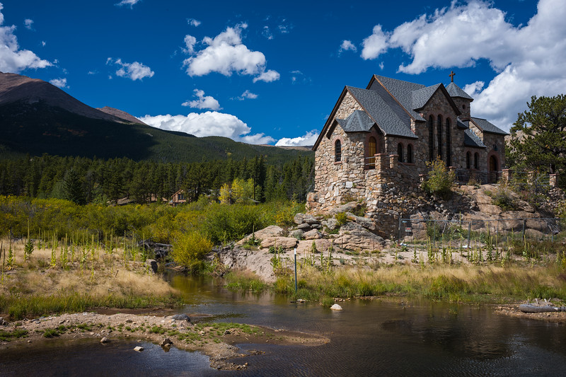 closer to the church outside Rocky Mtn Nat Park