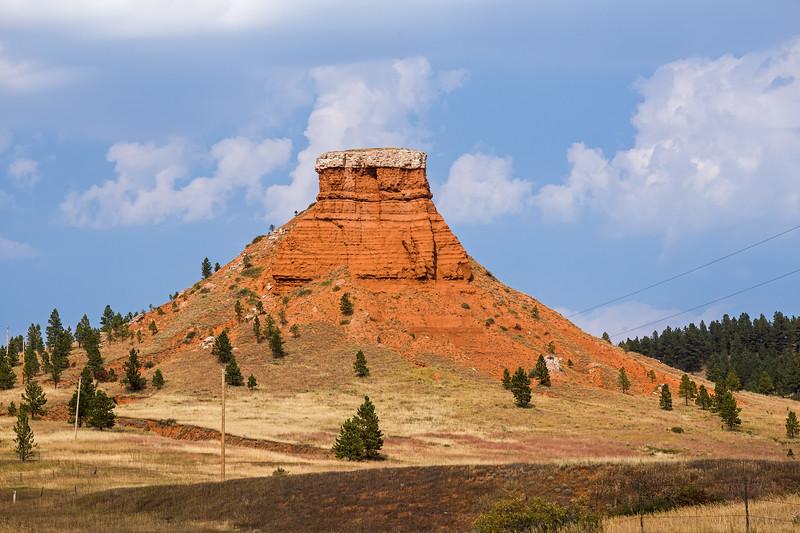 roadside butte eastern Wyoming