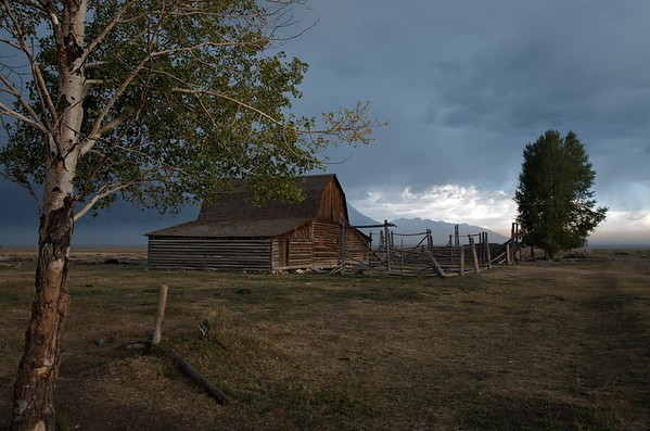 Approaching storm at Mormon row