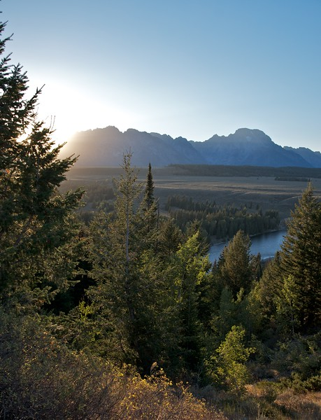 Sun goes down at the Snake River overlook