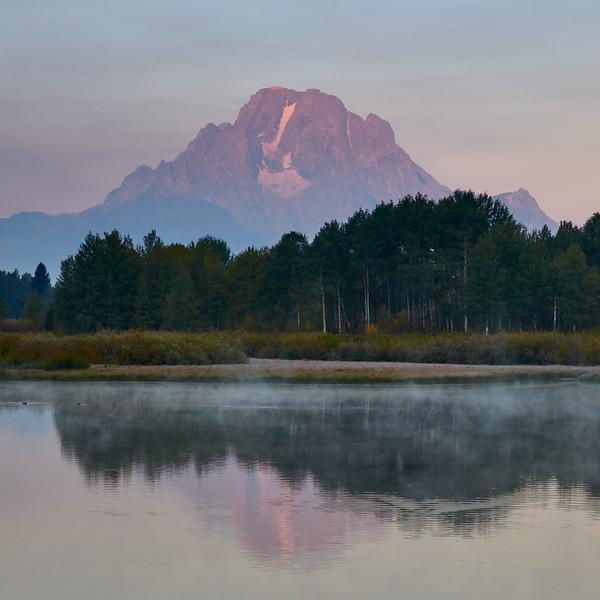 Mount Moran at sunrise