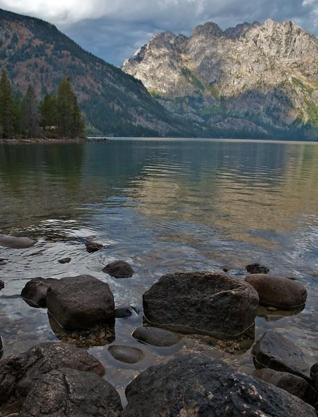 Shore rocks at Jenny Lake
