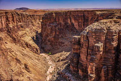 looking down the Little Colorado River Gorge