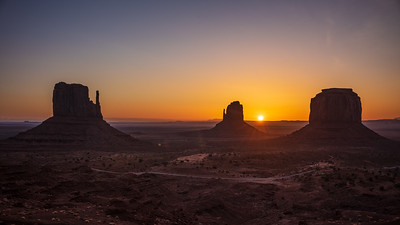 three buttes sunrise