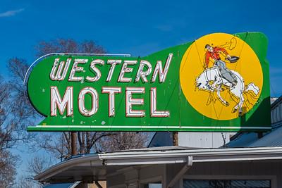 Western Motel neon sign North Platte Nebraska