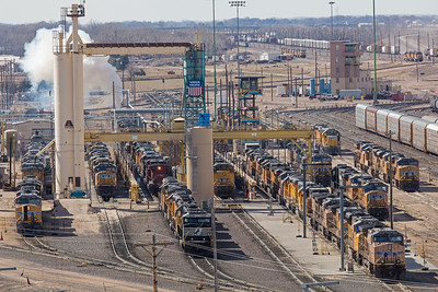North Platte railroad yards locomotives
