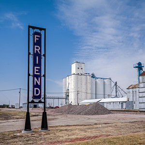sign welcoming us to Friend Nebraska