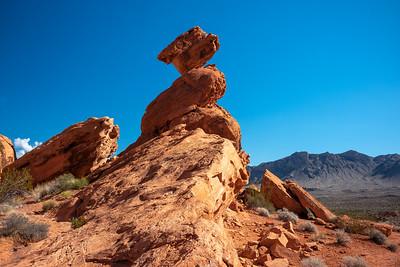 side view Balanced Rock