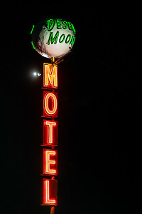 neon Desert Moon Motel sign