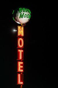 neon Desert Moon Motel sign