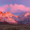 alpenglow on Organ Mts Las Cruces