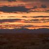desert sunset with car