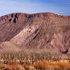 purple mountain near Rio Grande NM