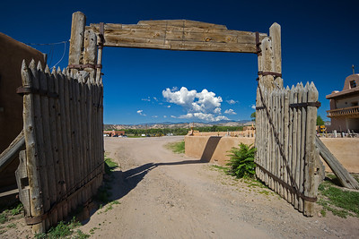 gate to churchyard San Ildefonso Pueblo