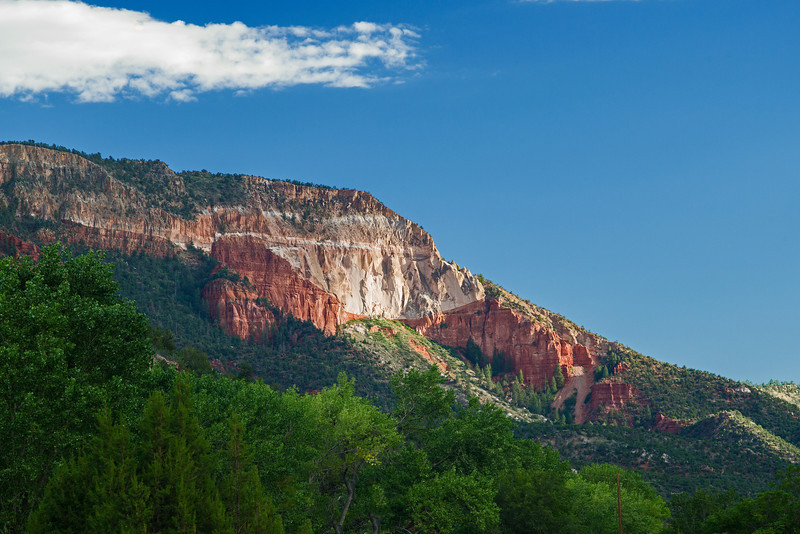 red cliff near Jemez Springs