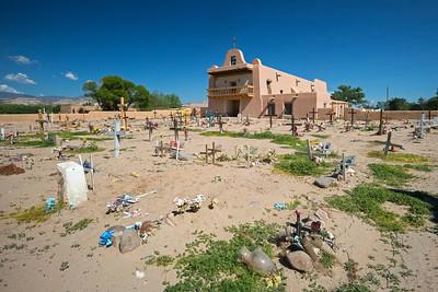 church graveyard San Ildefonso Pueblo