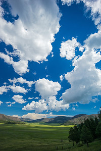 cloudscape over Valles Caldera