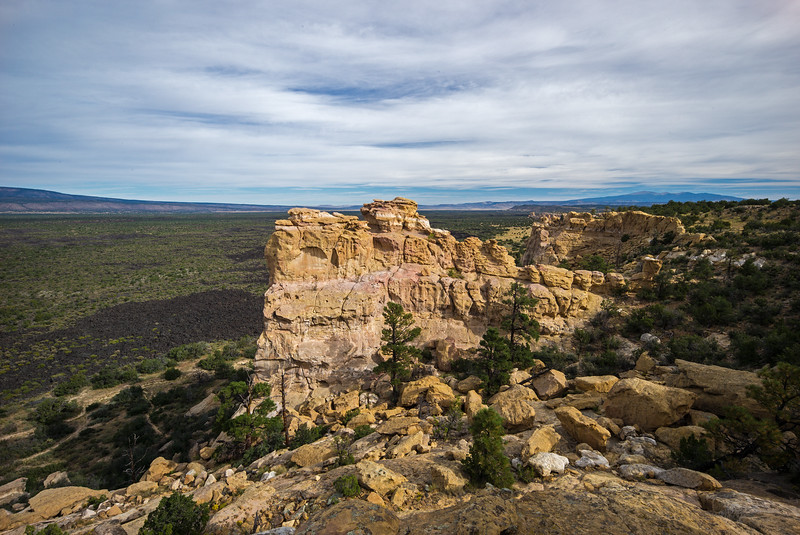 El Malpais National Monument Sandstone Bluffs Overlook & lava field