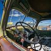 cab interior Harvester truck