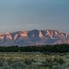 alpenglow roadside mountain Hwy 550 near Albuquerque